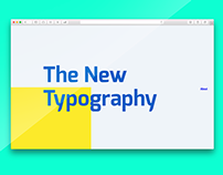 The New Typography — Design Manifesto Website