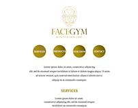 website for salon FaceGYM .
