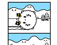 Monster Little comic - snow monster