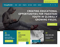 EduEnrich website design