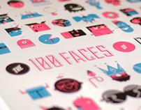100 Faces  by  Danny Schlitz