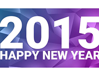 Happy New Year Banner || 2015 || Low Poly