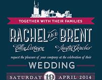 Rachel + Brent Wedding Invitation Suite