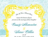 Cassidy + Shane Wedding Invitation