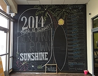 Anytime Fitness New Year's Chalkboard