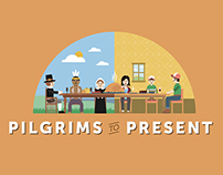Pilgrims to Present: Thanksgiving Infographic