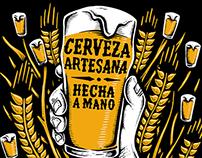 Cerveza Artesana, hecha a mano