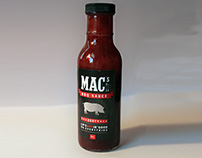 MAC's BBQ Sauce Label