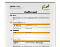 Controlled document template