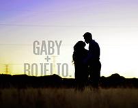 Dual Visuals: Gaby + Rijelio.