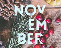 November Seasonal Poster