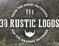 30 Rustic Hand Drawn Logos