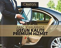 Cratos Rent a Car Social Media Post Design Pack