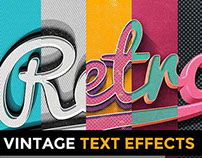 RETRO MANIA: 50 Vintage Text Effects