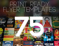 BUNDLE: 75 Amazing Print-Ready Flyer Templates