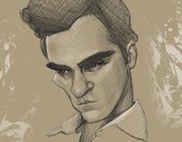 Joaquin Phoenix caricature sketch