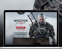 The Witcher 3 - presale landing page