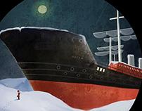 The ship ran aground