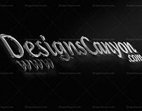3D PSD Logo Mockup Template