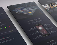 Isometric-Mockup for Dark Styled Landing Page