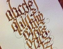 new calligraphy