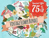 Beautiful Vintage Flower Graphics Bundle