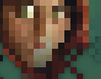 Afghan Girl, Pixelated