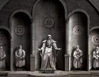 Starwatch Hall Statues
