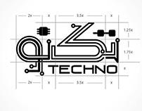 Techno Logo ِArabic Calligraphy