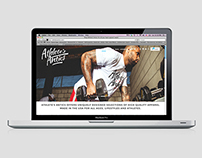 Identity and Website Design for Athletes Antics