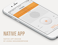 Skeuomorphic UI : Native App Design