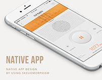 Skeuomorphic UI : Native App Design