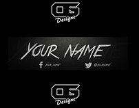 """Youtube """"Hipster"""" Banner Template"""