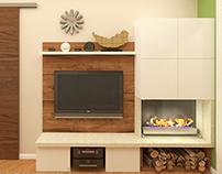 Living room & hallway (Fen shui) / Гостиная и коридор