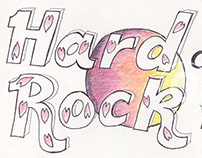 Ballpoint Pen Hard Rock Cafe Logo Design