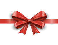 Ribbon with a bow