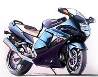 Honda CBR 1100 Blackbird -  Hand Render