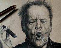 Jack Nicholson drawing