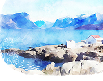 calendar 2015.Canadian landscape