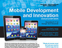 Mobile Development Course Promotional Materials