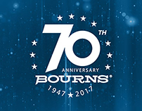 Bourns 70th Anniversary Designs