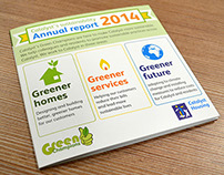 Sustainability report leaflet