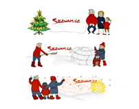 2014 animated Christmas doodles