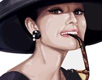 Audrey Hepburn Digital Art