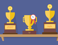 Web awards - flat illustrations