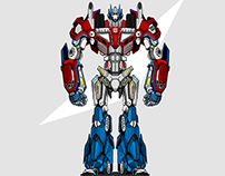 Optimus Prime Illustration