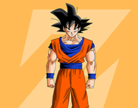 Goku Digital Illustration