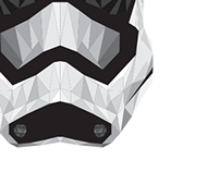 Star Wars Episode VII Storm Trooper Geometric