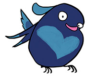 Cagey: Bird Character Design