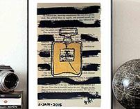 CHANEL PERFUME BY DANOR SHTRUZMAN  - MODERN WALL ROOM